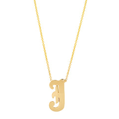 14K Gold Letter Necklace