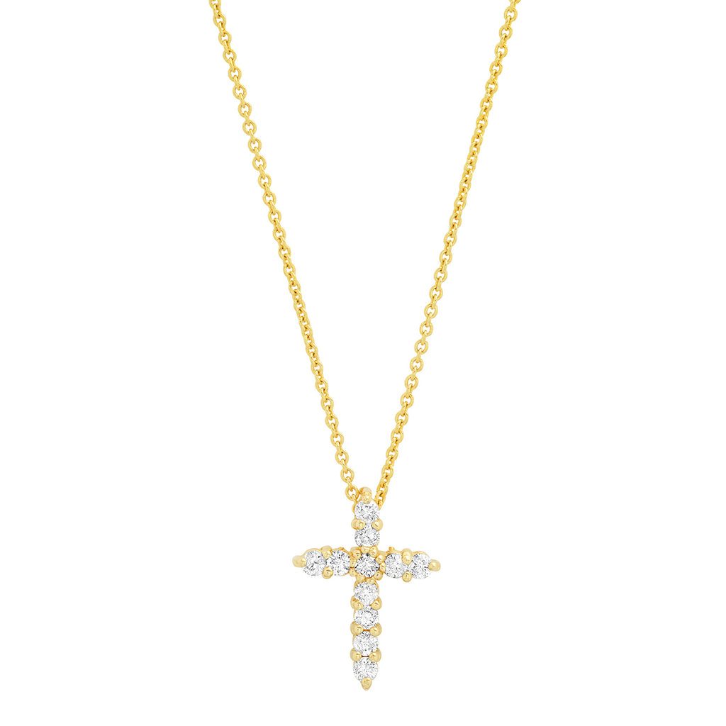 14K Diamond Cross Necklace