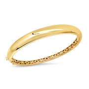 14K YG Gold Dome Bangle