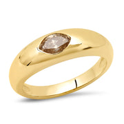 14K YG Marquise Champagne Diamond Gypsy Ring