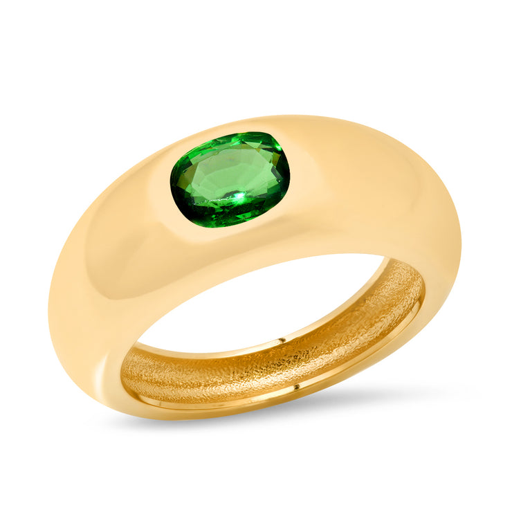 14K YG Tsavorite gypsy Ring