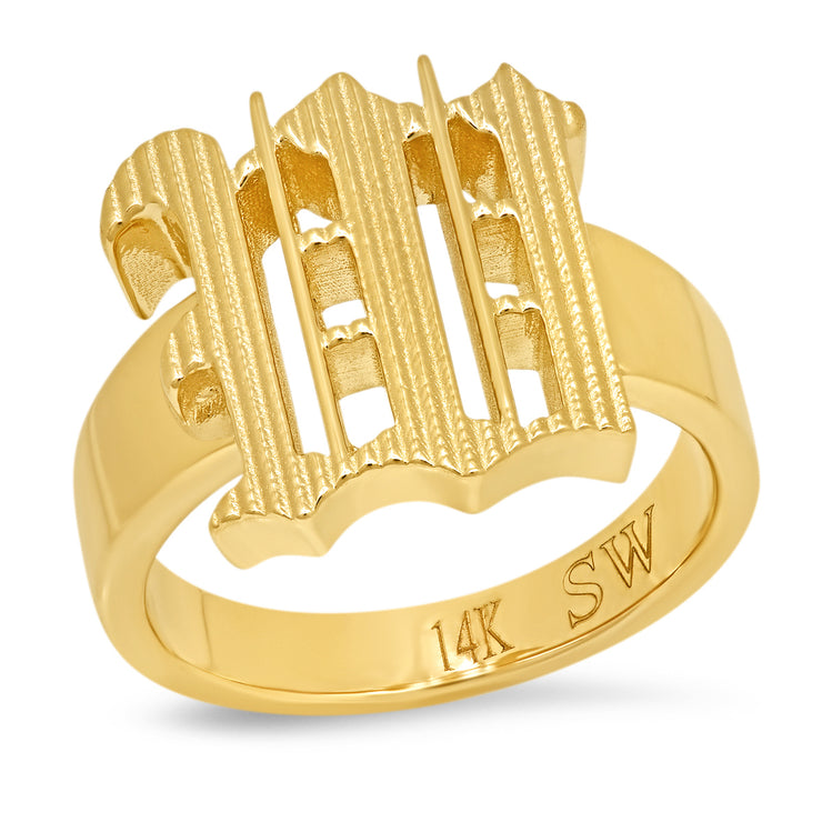 USE YOUR WORDS Block Letter Ring