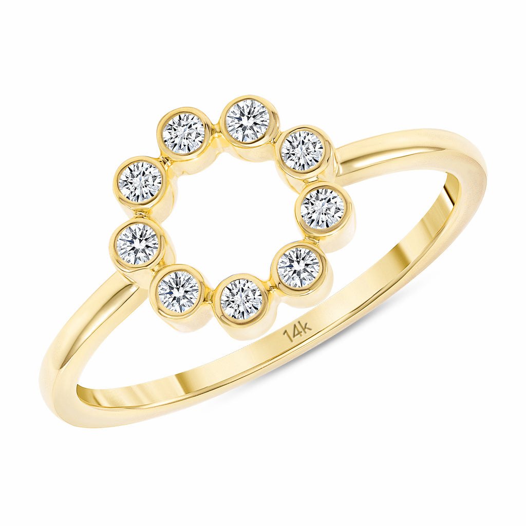 14K Mini Blossom Diamond Ring