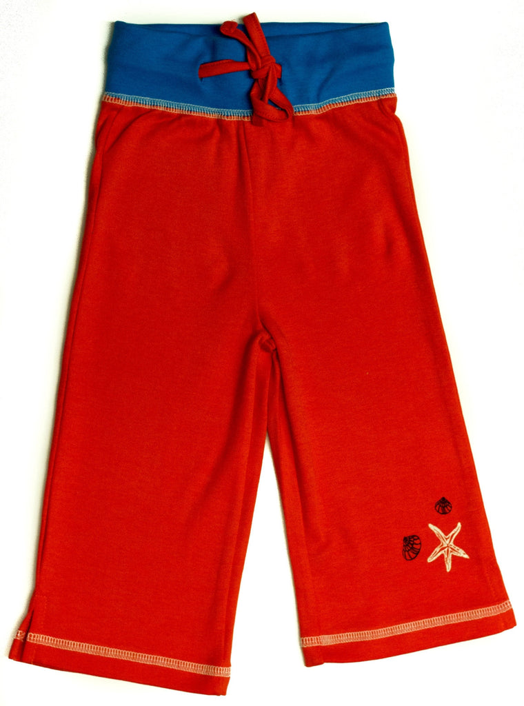 Organic Nautical Star Red Yoga Pants -