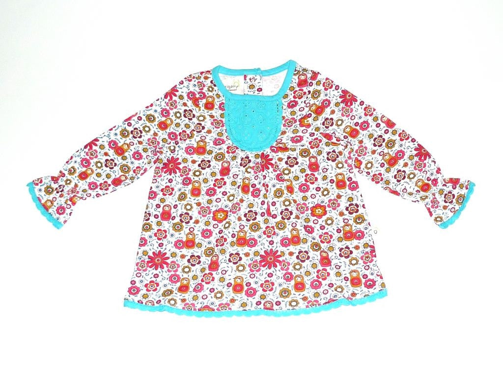 Organic Girls' Play Time Embroidered Top -