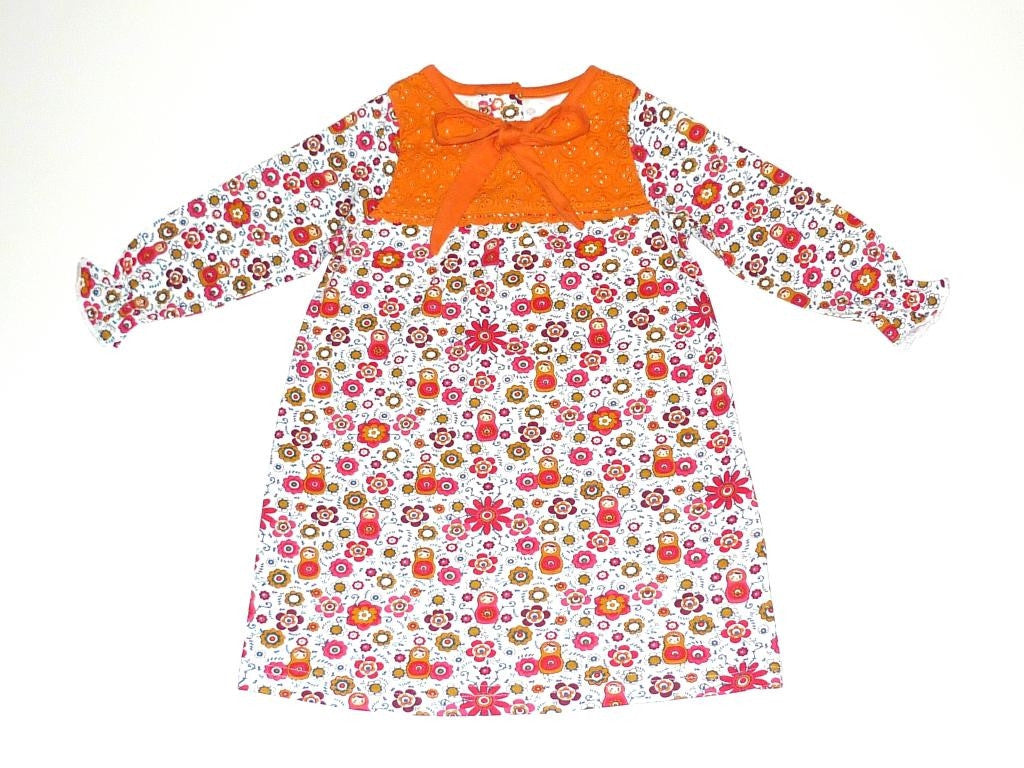 Organic Girls' Play Time Bubble Sleeve Dress -