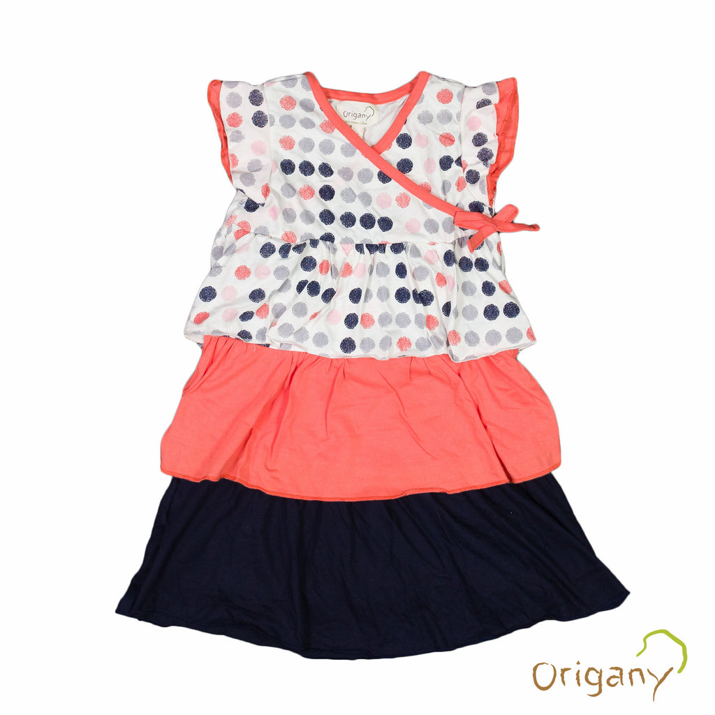 Organic Burst of Dots Frills Dress -