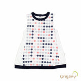 Organic Burst of Dots Color Block Top -