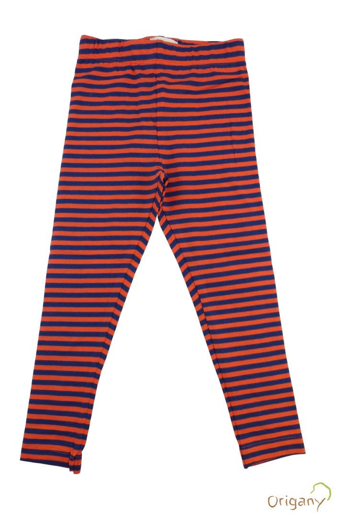 Organic Aztec Orange and Blue Yarn Dyed Leggings -