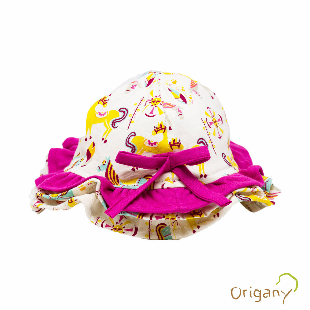 Organic Merry Go Round Pink Floppy Girls Hat -