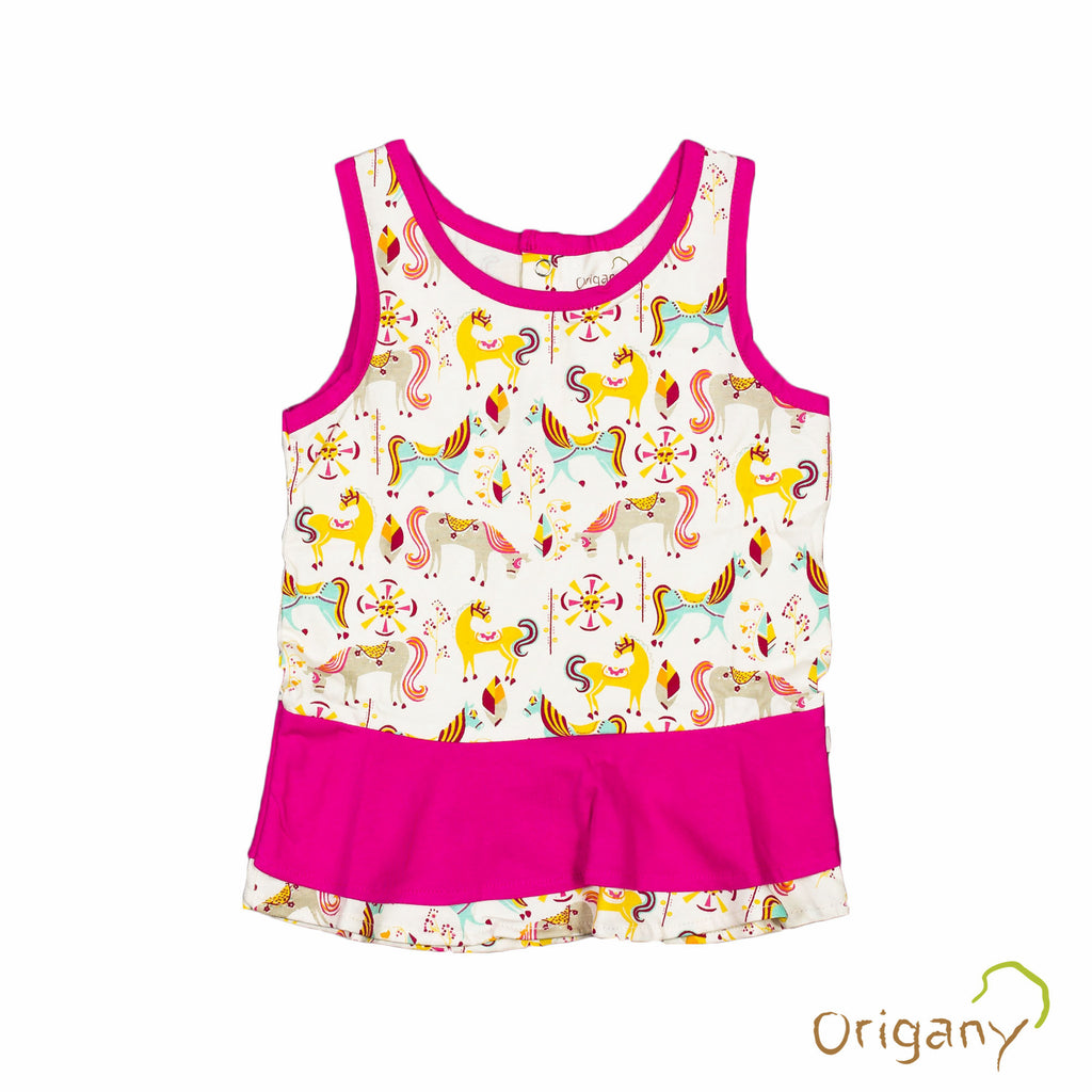 Organic Merry Go Round Frill Top -