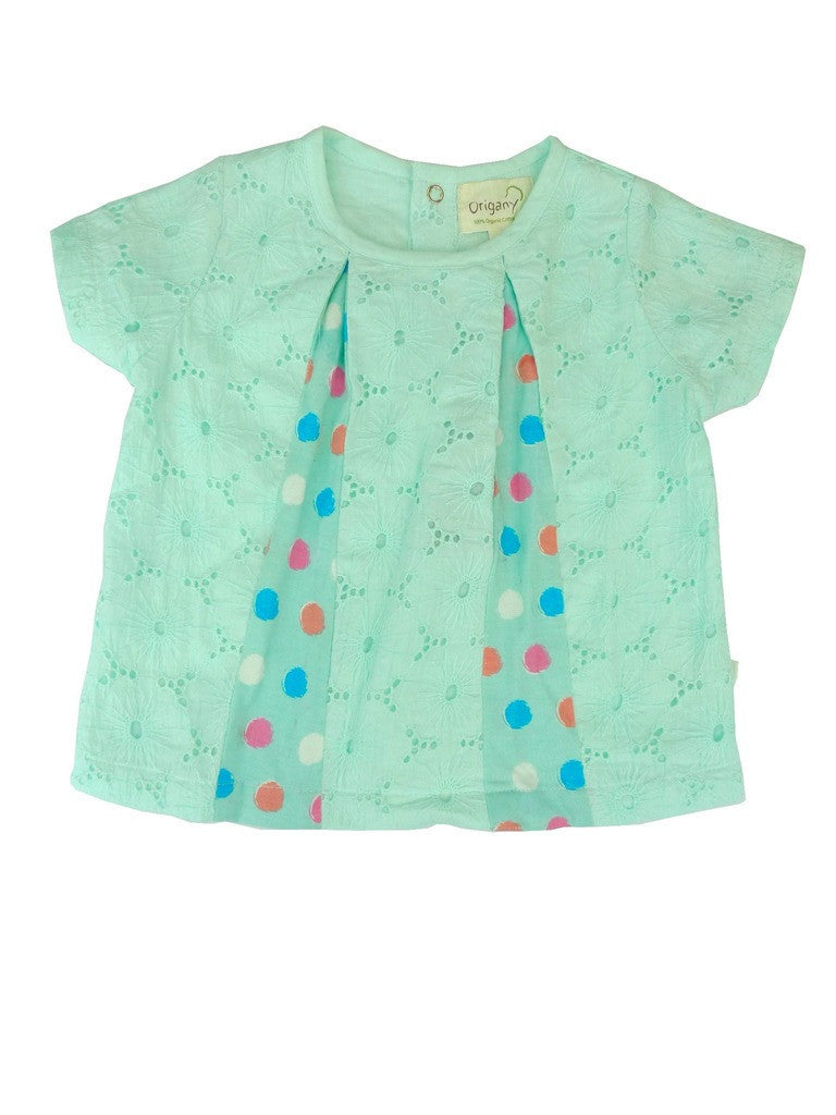 Organic Hummingbird Pintuck Top -