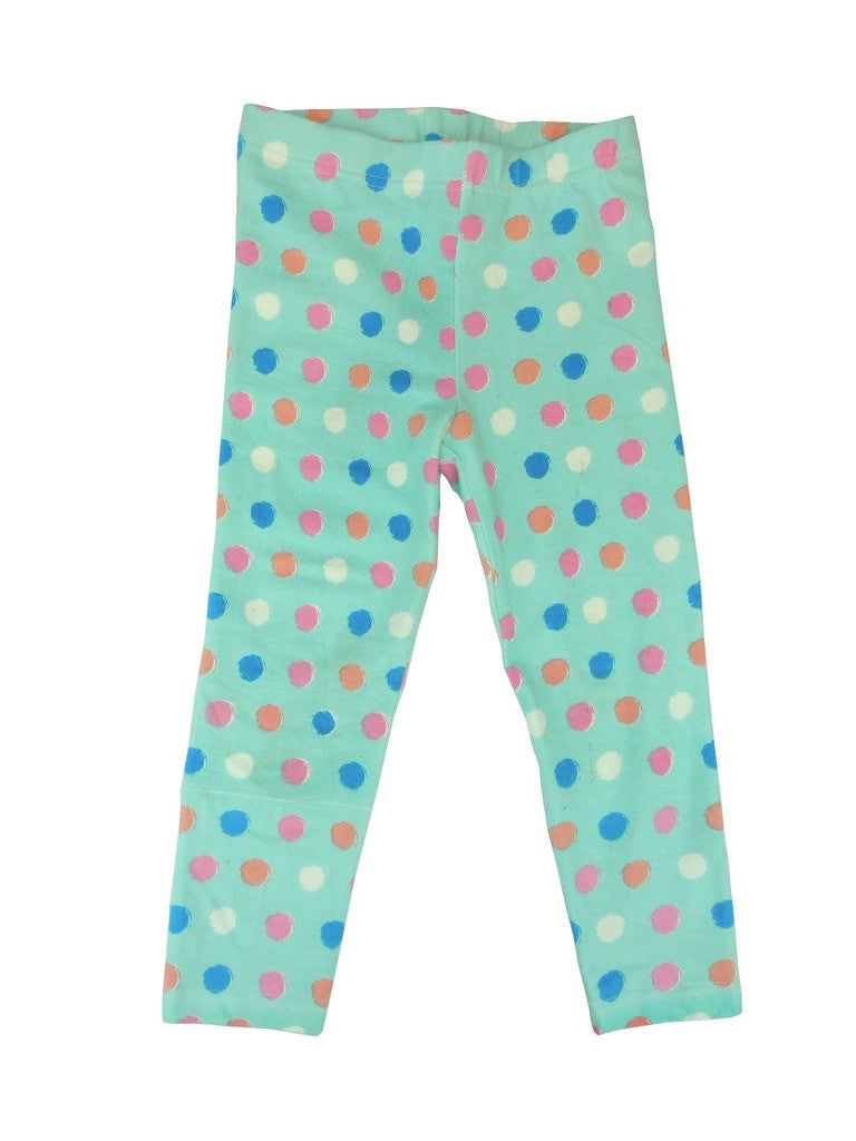 Organic Dot Print Capri Leggings -