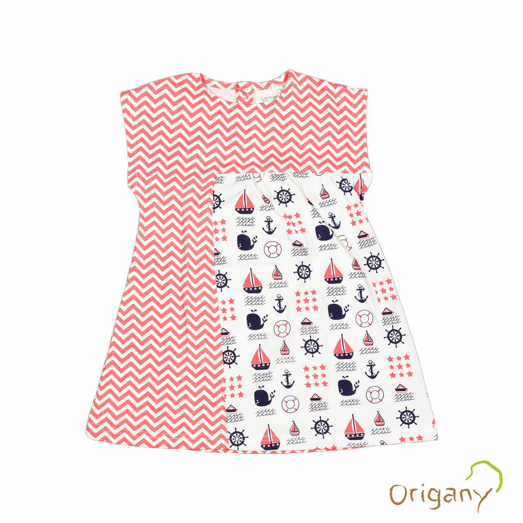 Organic Nautical Sectioned Dress -