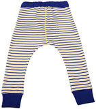 Blue and Yellow Striped Harem Pants  Auto renew
