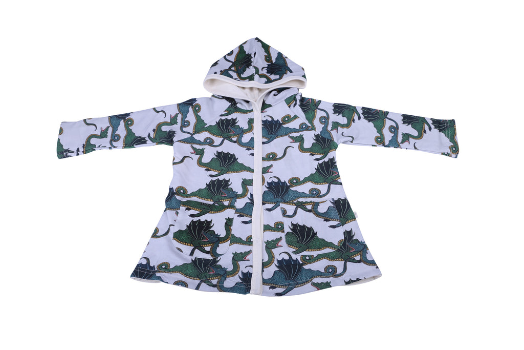 Dragon Print Reversible Hooded Jacket