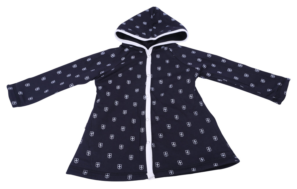 Plus Print Reversible Hooded Jacket