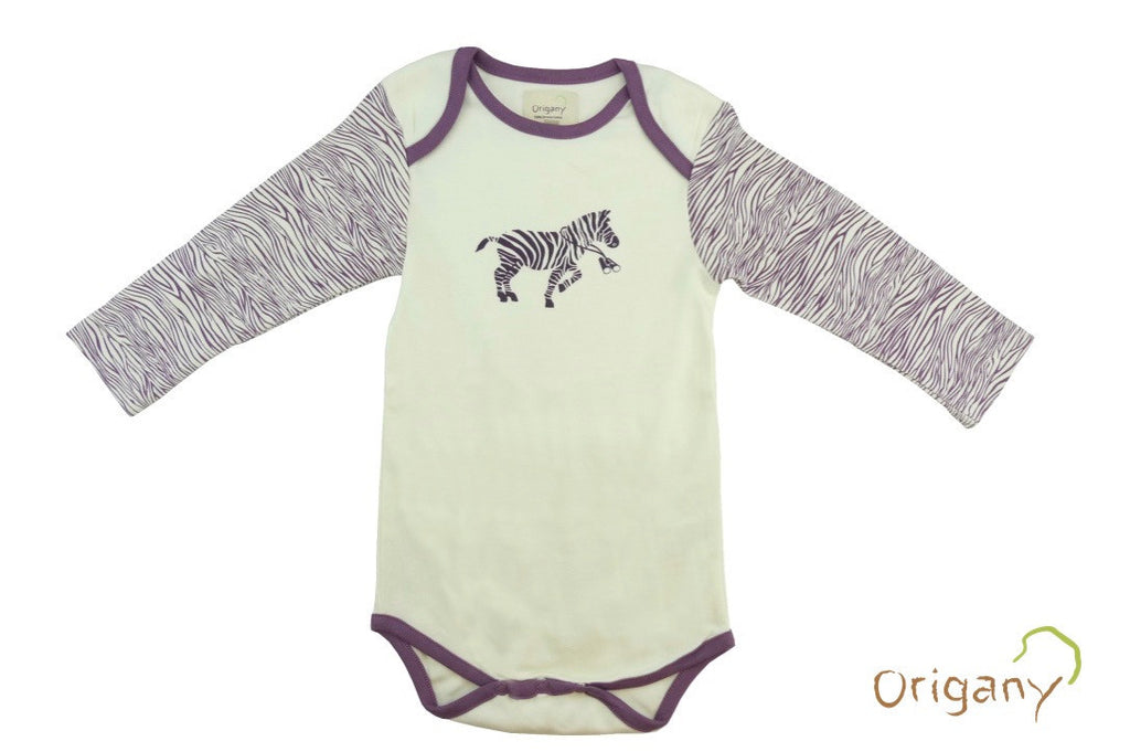 Safari Zebra Placement Print Bodysuit -