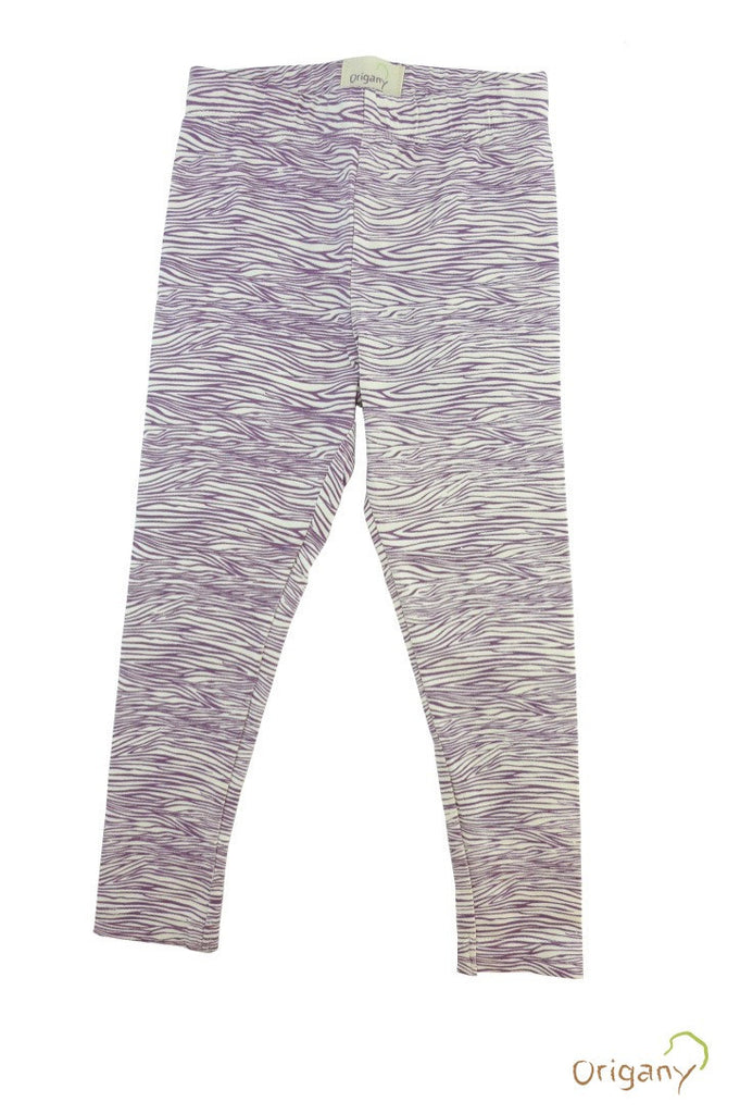Safari Purple Zebra Print Leggings -