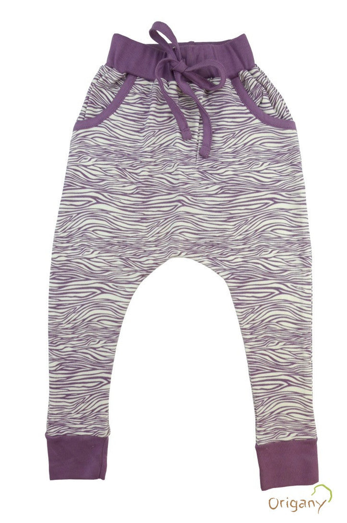Safari Purple Zebra Harem Pants -