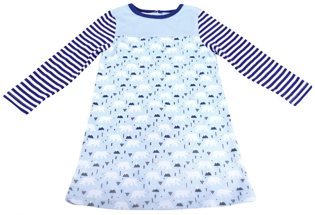 Polar Bear A-Line Blue Dress