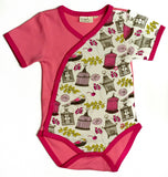 Organic Tropical Bird Print Baby Bodysuit -