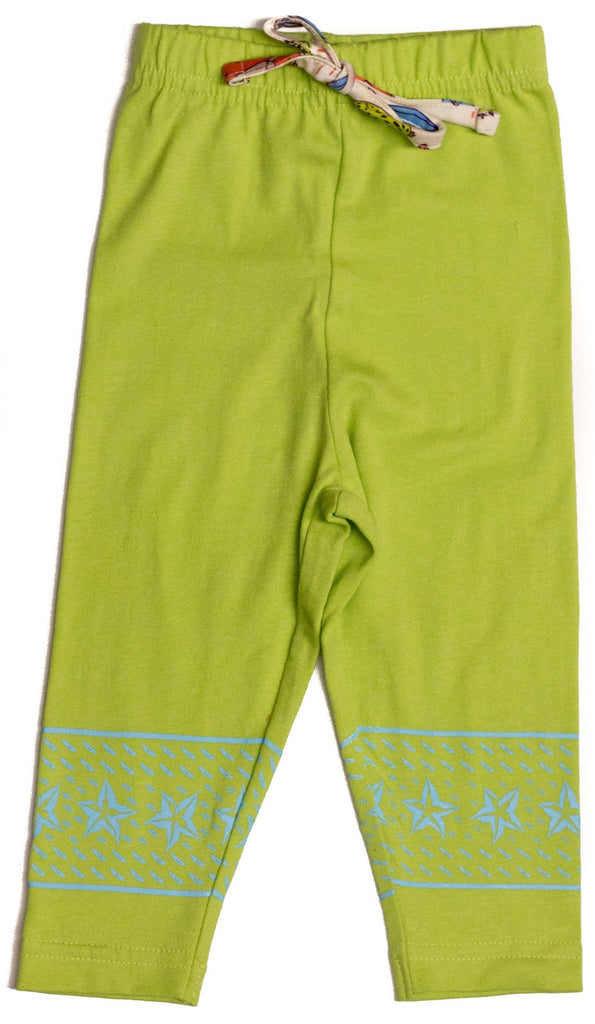 Organic Tropical Fruit Capri Leggings -