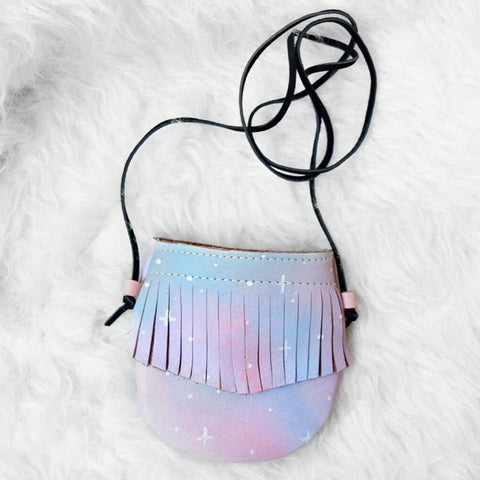 Cotton Candy Galaxy || Fringe Pouch