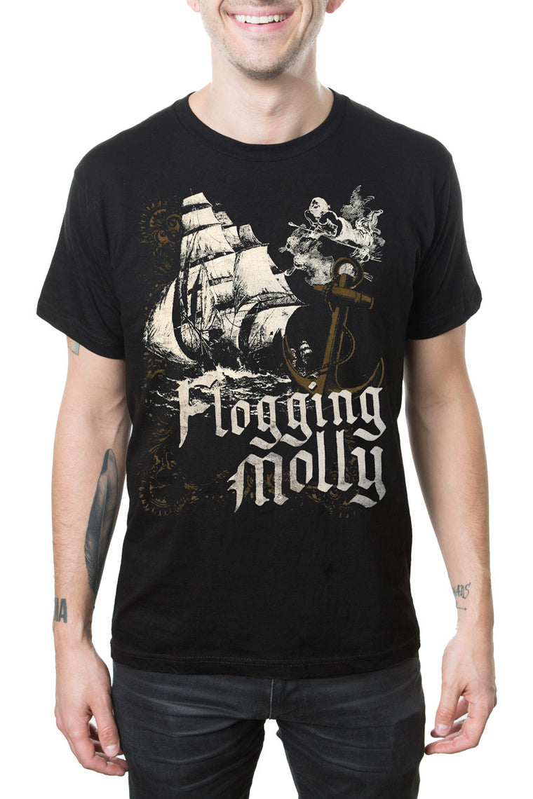 Flogging Molly Anchor Sail Tee Black