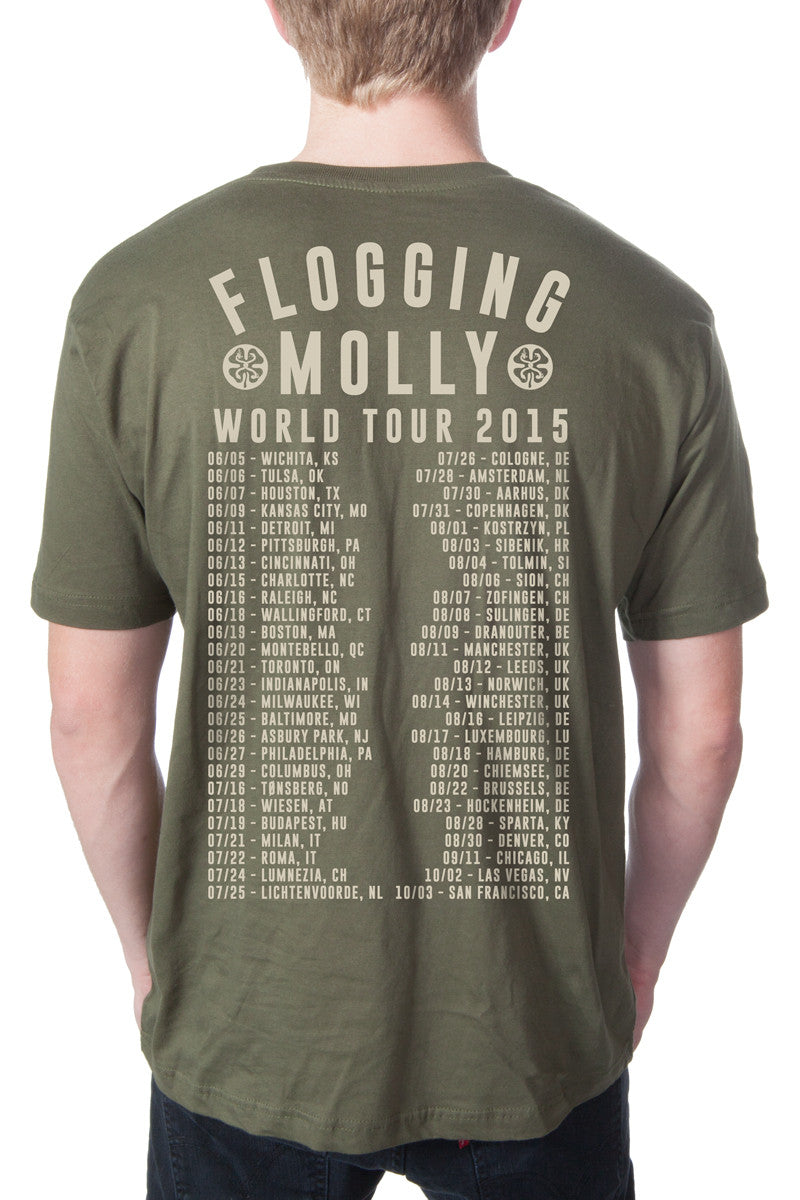 Flogging Molly Arch Tee Army Green