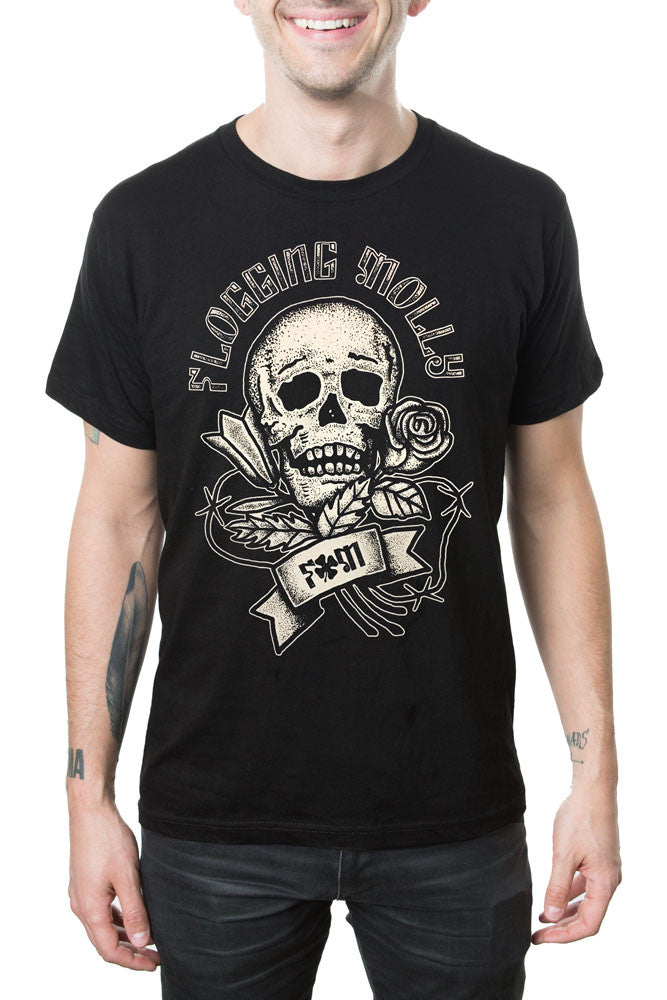 Flogging Molly Skull Rose Tee Black