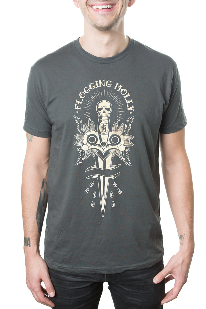 Flogging Molly Dagger Tee Charcoal