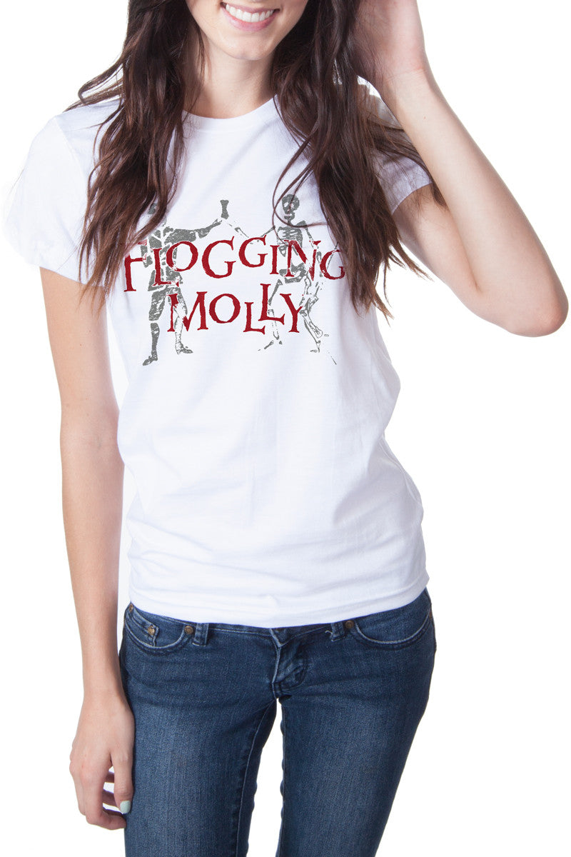 Flogging Molly Dead Dancer Tee White