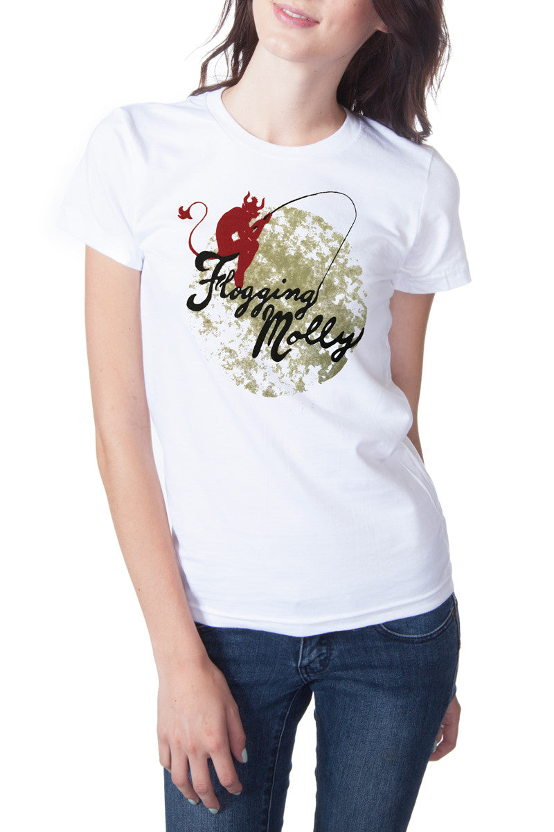 Flogging Molly Fishing Devil Tee White