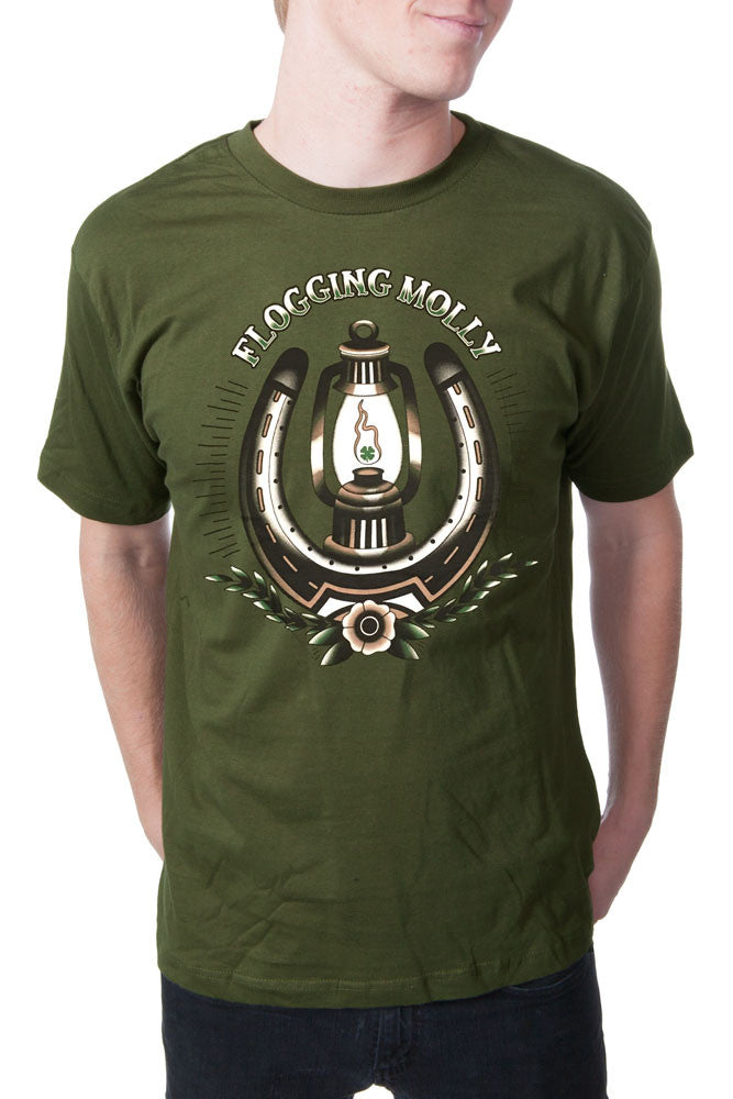 Flogging Molly Lantern Tee Olive