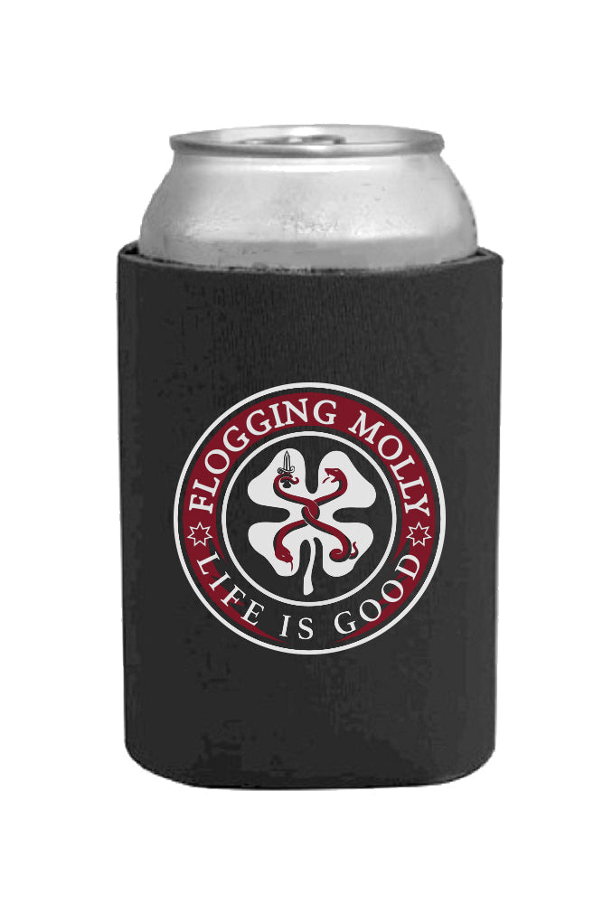 Flogging Molly Life is Good Coozie Black