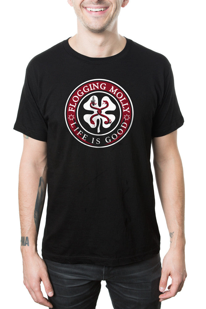 Flogging Molly Life is Good Tee Black