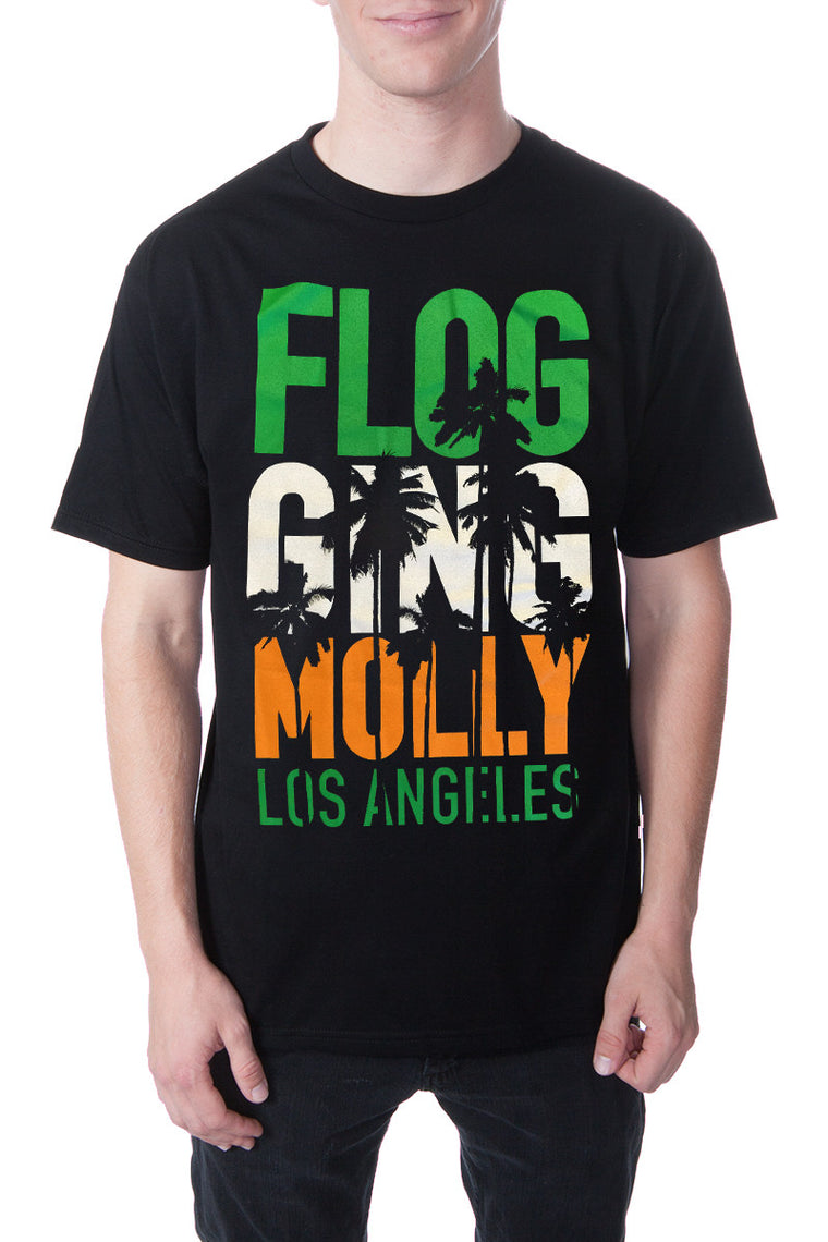 Flogging Molly Palm Trees Tee Black
