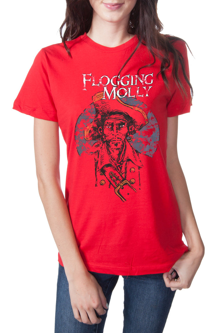 Flogging Molly Pirate Tee Red
