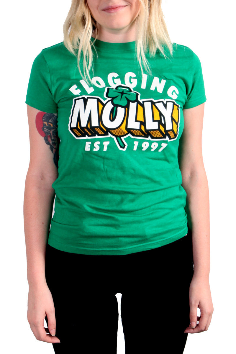 Flogging Molly Pop Out Tee Kelly Green