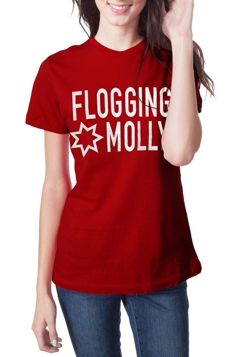 Flogging Molly Red Star Tee Red