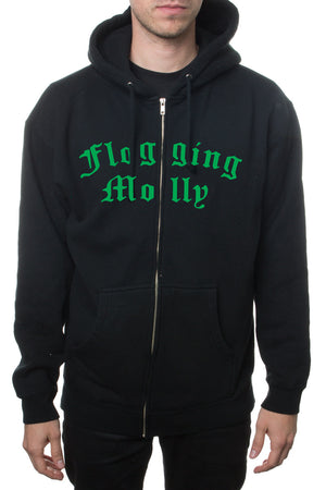 Flogging Molly Sabbath Zip Hoodie Black/Green