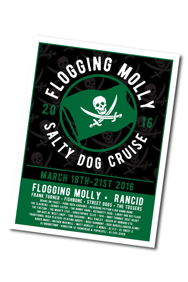 Flogging Molly Salty Dog Cruise 2016 Event Poster