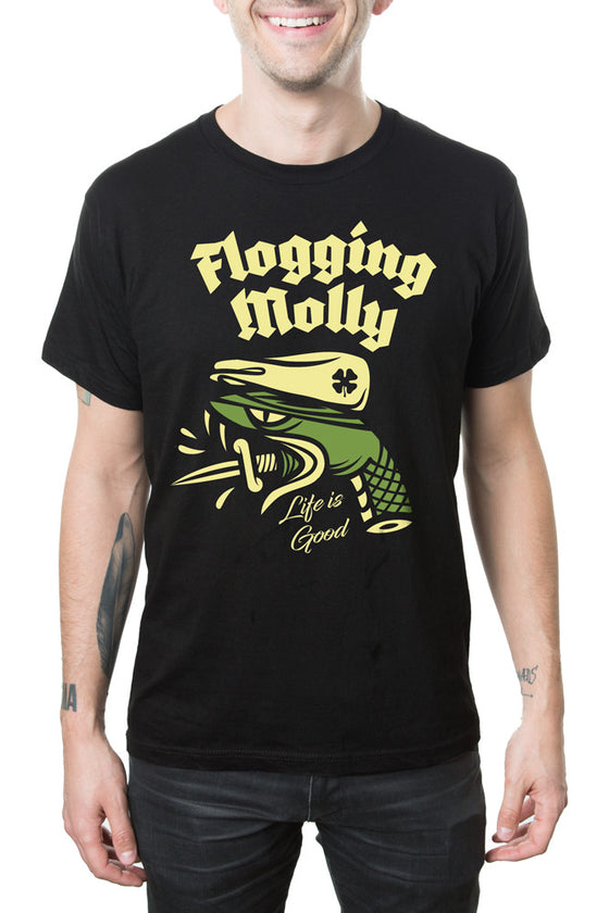 Flogging Molly Snake Head Tour Tee Black