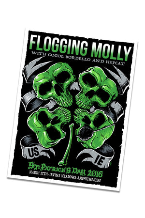 Flogging Molly St. Patty's Day 2016 Event Poster