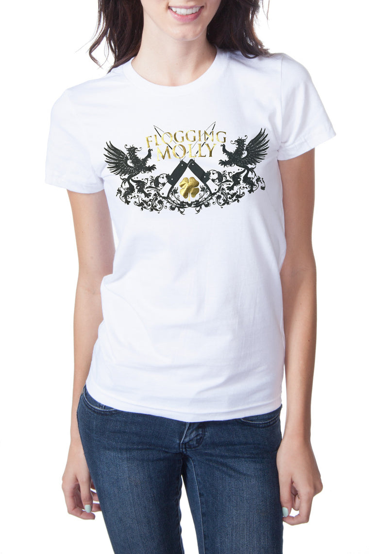 Flogging Molly Switchblade Tee White