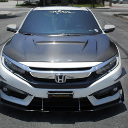 2016-2019 Honda Civic Coupe Splitter V2 - Aeroflowdynamics