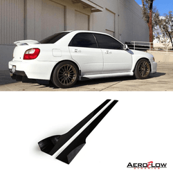 2002 - 2007 Subaru Wrx/Sti Side Skirt Extension V2 - AeroflowDynamics