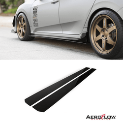 2017-2019 Honda Civic Side Skirt Extension (Civic Hatch/Sedan Type-R) V1 - Aeroflowdynamiocs