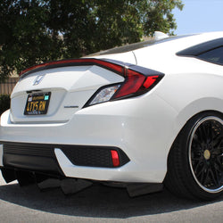 2016+ HONDA CIVIC COUPE SIDE SKIRT EXTENSION V4 - AeroflowDynamics